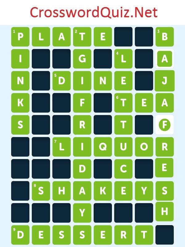 Crossword Alcoholic Drink