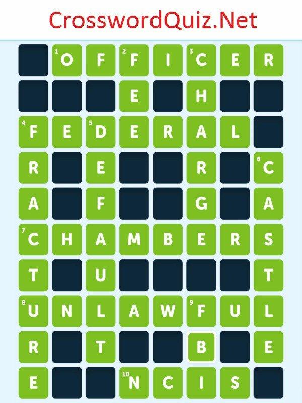 Laws Level 6 Crossword Quiz Net