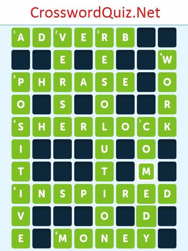 Literature Level 1 - Crossword Quiz Net