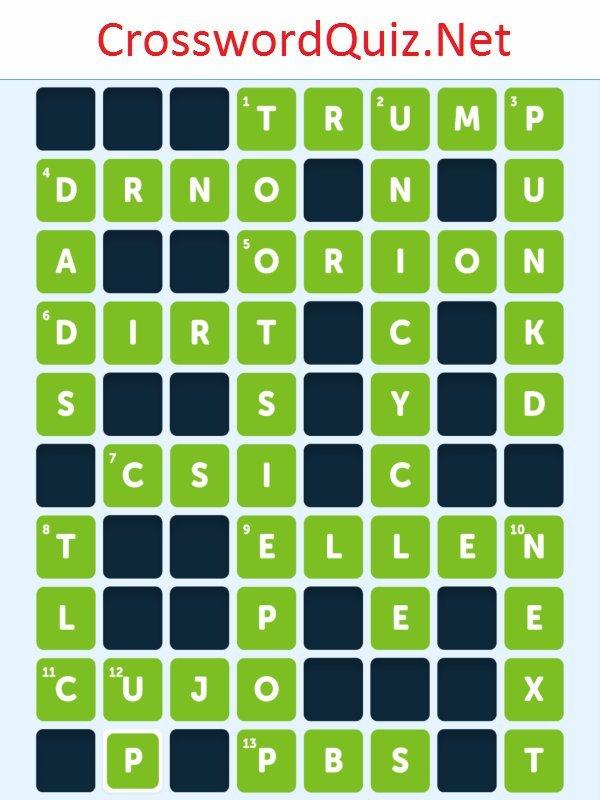 Pop Culture Level 9 - Crossword Quiz Net