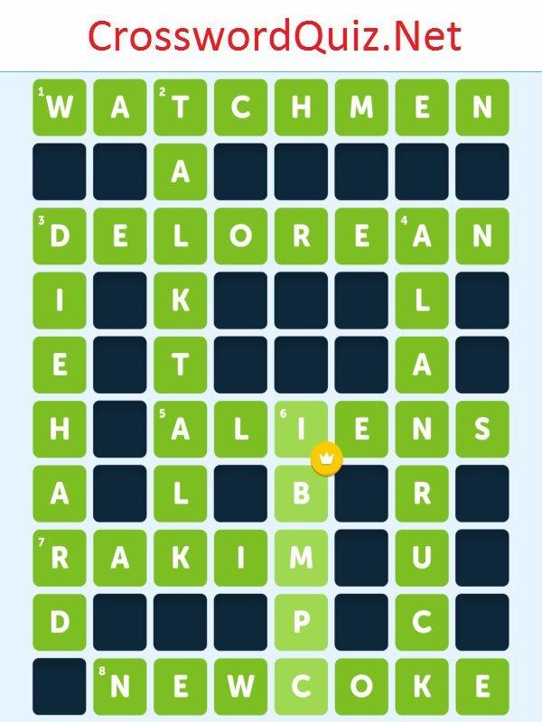 80's Level 5 - Crossword Quiz Net